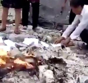 china burning