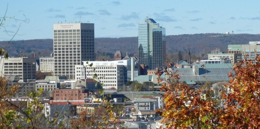Vista parcial da cidade de Worcester