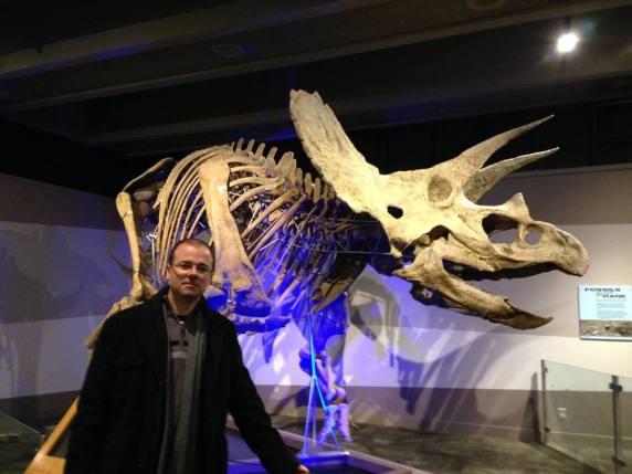Fóssil de triceratops descoberto em 2004