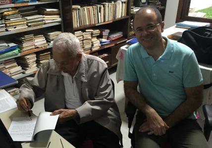 Última visita que fiz ao pastor Anísio, no dia 17/9/2016